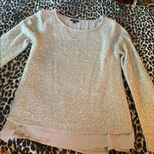 Apt 9 sparkly sweater with faux layer